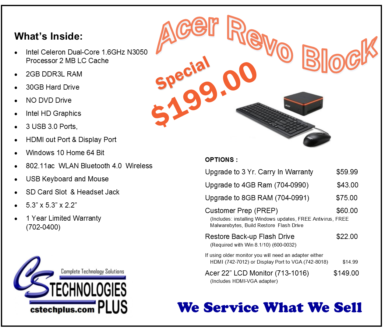 Featured Specials New And Refurbished Pcs Cs Technologies Plus