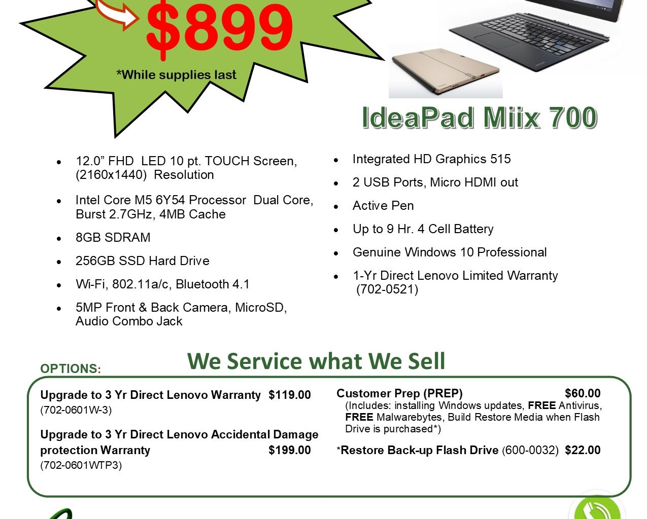 Featured Specials - New and Refurbished PCs - CS Technologies Plus